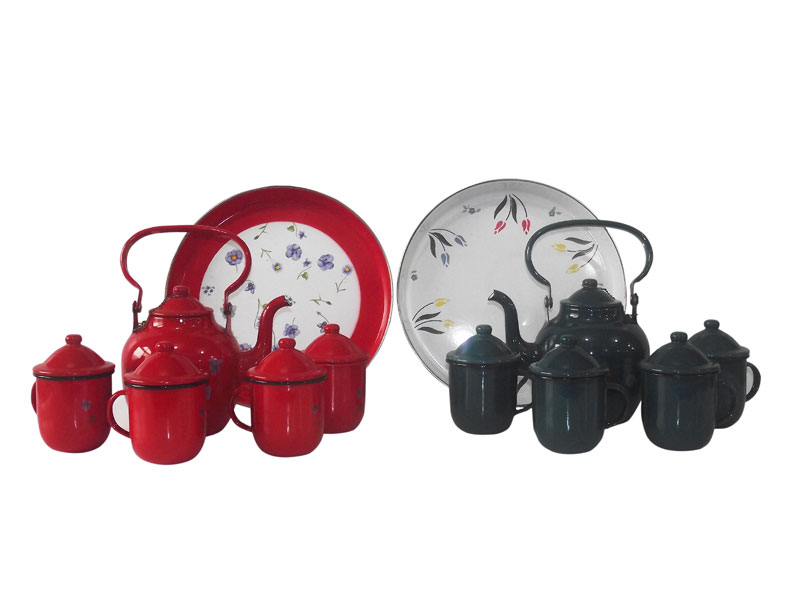 enamel middeast kettle set to middeast country from China