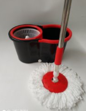 Cheaper Easy type Rotating mop and bucket set with plastic basketand two mopheads for floor cleaning