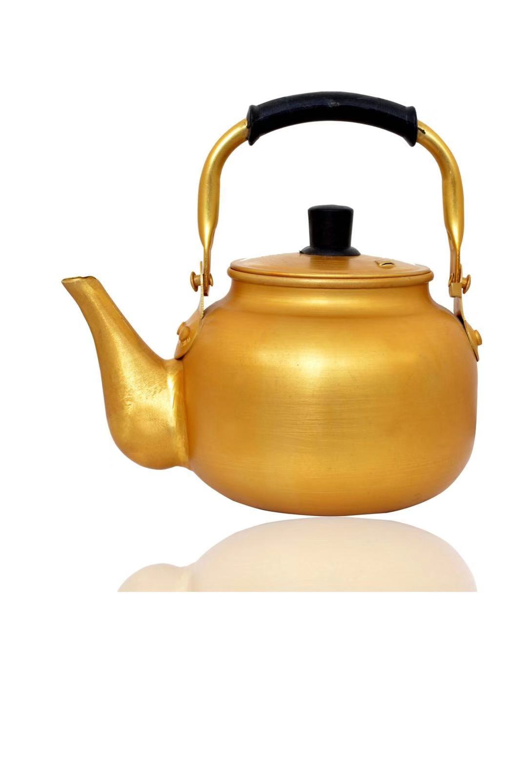 2.0L aluminum yellow kettle weld mouth stove top kettle